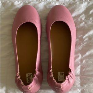 Fitflop Pink Ballet Slipper flat Shoe Size 7.5